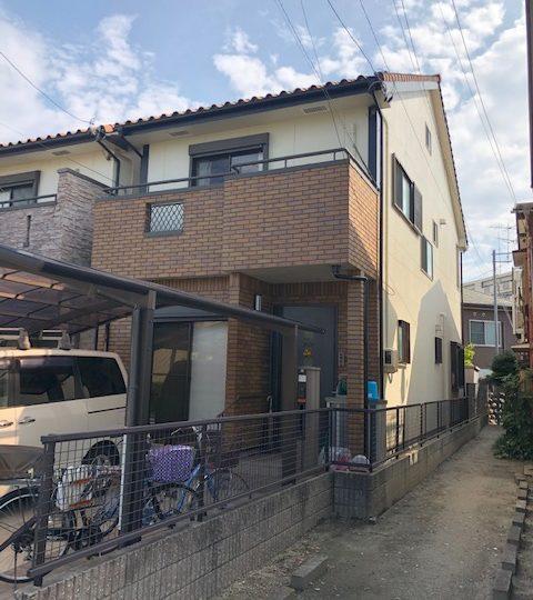 名古屋市北区K様邸外壁塗装工事・ベランダ防水工事・ベランダカーポート造作工事