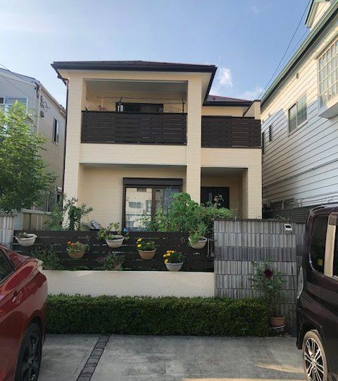 名古屋市北区N様邸外壁塗装工事・屋根塗装工事・シーリング打ち替え・ベランダ防水工事