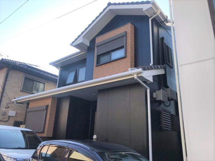 名古屋市北区M様邸外壁塗装工事・コーキング打ち替え、打ち増し工事・ベランダ防水工事
