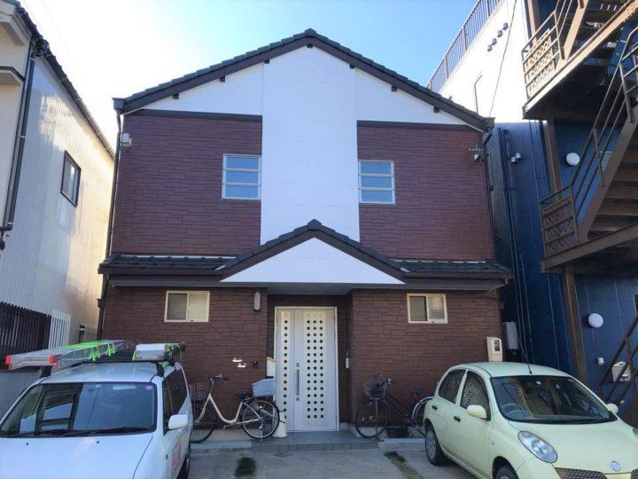 北名古屋市I様邸外壁塗装工事・コーキング打ち増し、打ち替え工事・雨樋改修工事