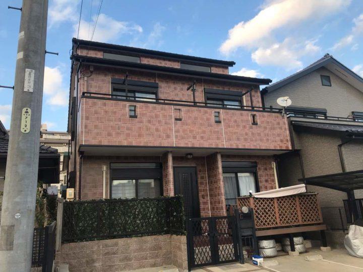 名古屋市北区T様邸外壁塗装工事・コーキング打ち替え、打ち増し工事・ベランダ防水工事
