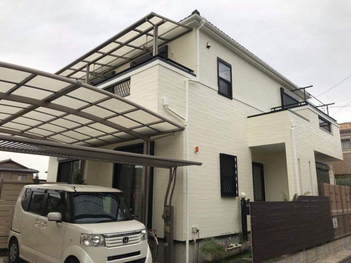 西春日井郡S様邸外壁塗装工事・コーキング打ち替え、打ち増し工事・ベランダ防水工事