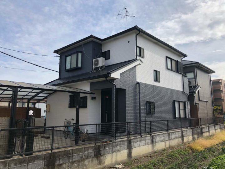 名古屋市北区S様邸外壁塗装工事屋根塗装工事コーキング打ち替え、打ち増し工事