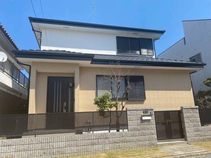 名古屋市北区S様邸外壁塗装工事コーキング打ち替え工事コーキング打ち増し工事
