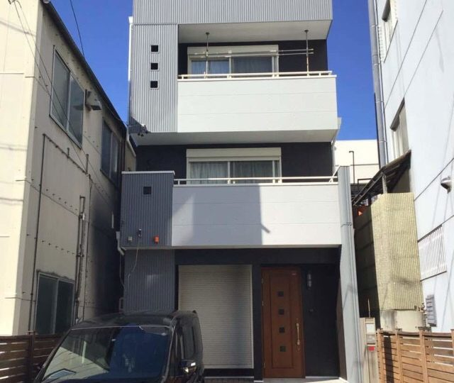 名古屋市東区S様邸外壁塗装工事・コーキング打ち替え、打ち増し工事・屋上FRP防水工事・ベランダトップコート
