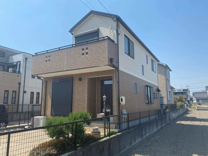 名古屋市北区K様邸外壁塗装工事・コーキング打ち替え工事・屋根塗装工事・ベランダ防水工事