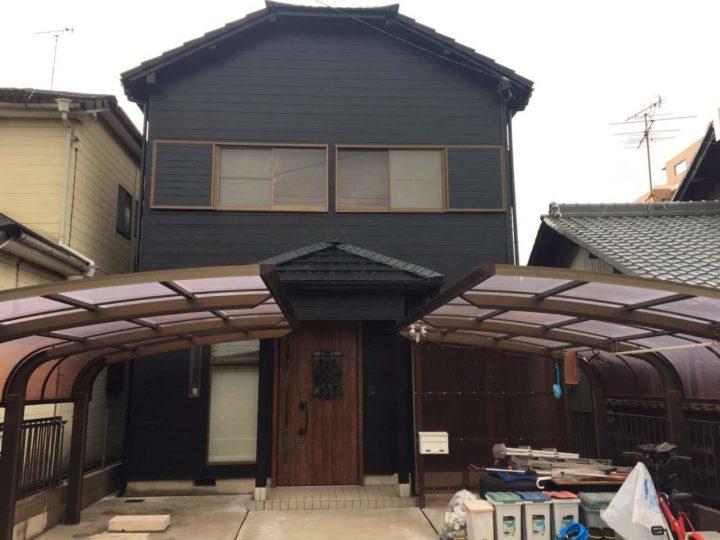 春日井市F様邸外壁塗装工事・屋根塗装工事・コーキング打ち替え工事・ベランダ防水工事