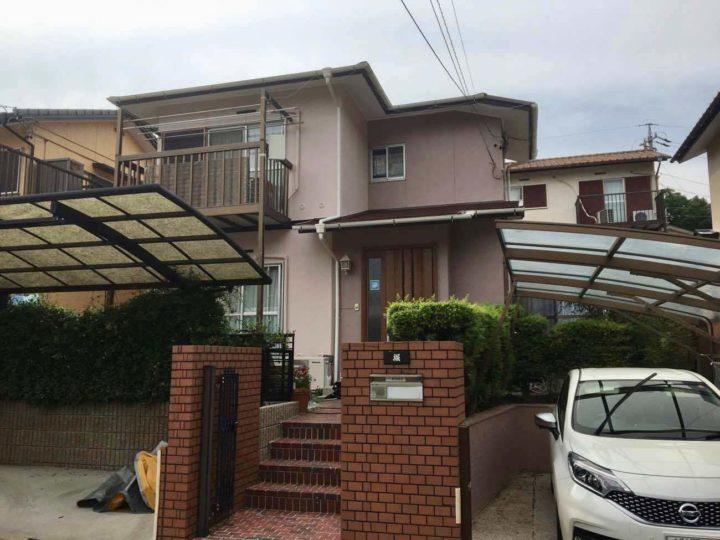 名古屋市守山区H様邸外壁塗装工事・屋根塗装工事・コーキング打ち替え、打ち増し工事