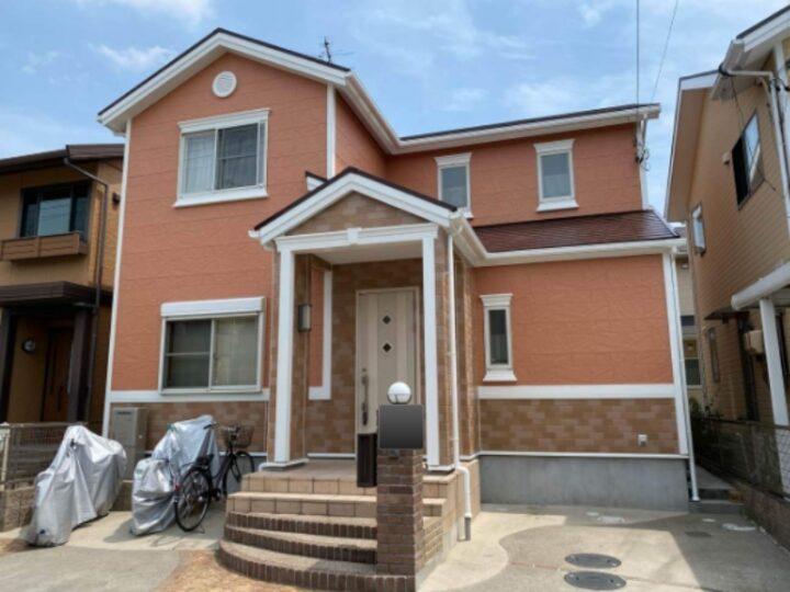 春日井市M様邸外壁塗装工事・コーキング打ち替え、打ち増し工事・屋根塗装工事