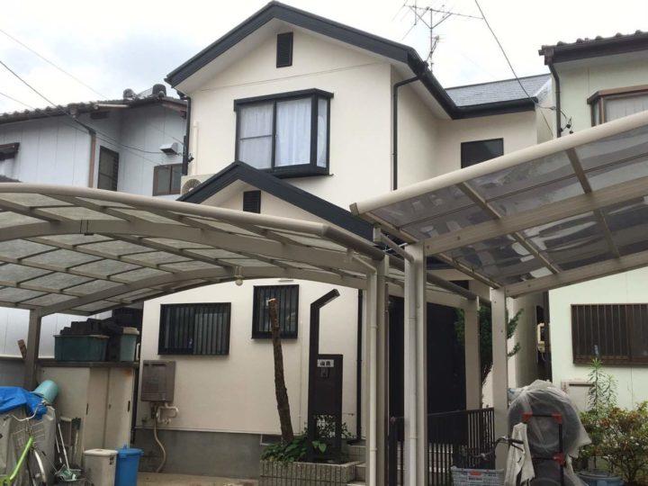 春日井市Y様邸外壁塗装工事・屋根塗装工事・コーキング打ち替え工事・ベランダ防水工事