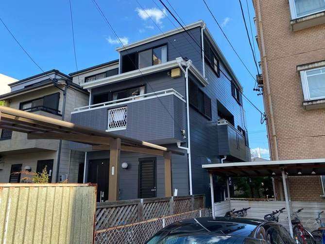 名古屋市東区K様邸外壁塗装工事・屋根塗装工事・コーキング打ち替え、打ち増し工事・ベランダ防水工事