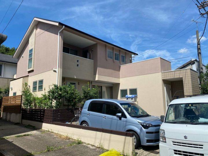 名古屋市北区S様邸外壁塗装工事・屋根塗装工事・コーキング打ち替え、打ち増し工事・ベランダ防水工事