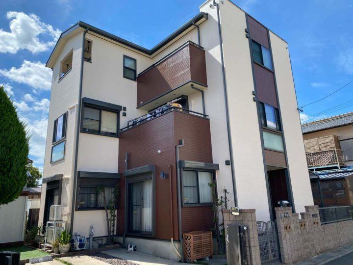 名古屋市北区Y様邸外壁塗装工事・屋根塗装工事・コーキング打ち替え、打ち増し工事