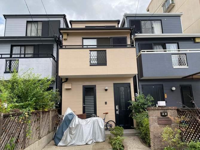 名古屋市東区I様邸外壁塗装工事・屋根塗装工事・コーキング打ち替え、打ち増し工事・ベランダ防水工事