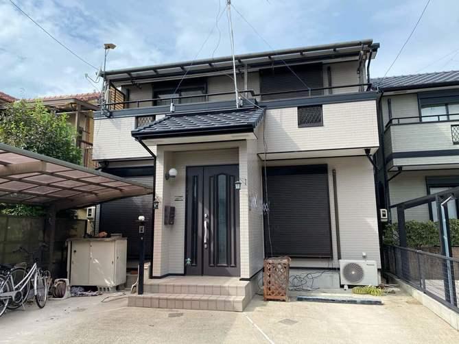 名古屋市北区K様邸外壁塗装工事・コーキング打ち替え、打ち増し工事・ベランダ防水工事