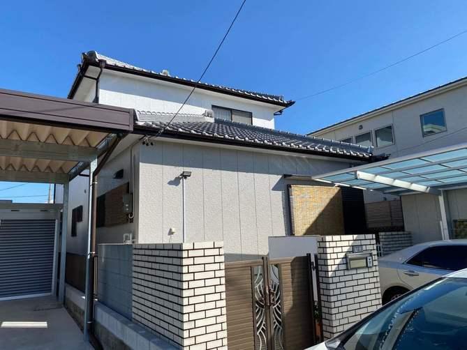 小牧市M様邸  外壁塗装工事・屋根修繕工事・車庫塗装・塀塗装