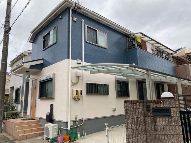 北名古屋市S様邸外壁塗装工事・コーキング打ち替え、打ち増し工事・屋根塗装工事・ベランダ防水工事
