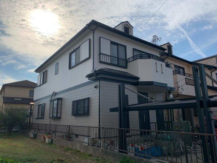 春日井市F様邸外壁塗装工事・屋根塗装工事・コーキング打ち替え、打ち増し工事・ベランダ防水工事