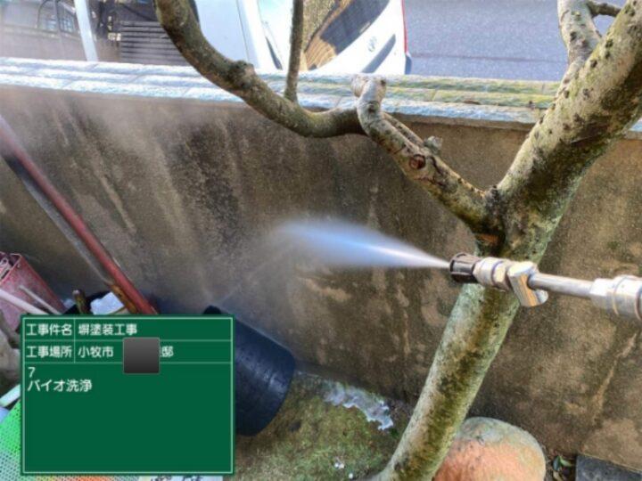 擁壁 バイオ高圧洗浄