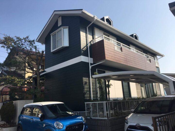 春日井市H様邸外壁塗装工事・屋根塗装工事・コーキング打ち替え、打ち増し工事