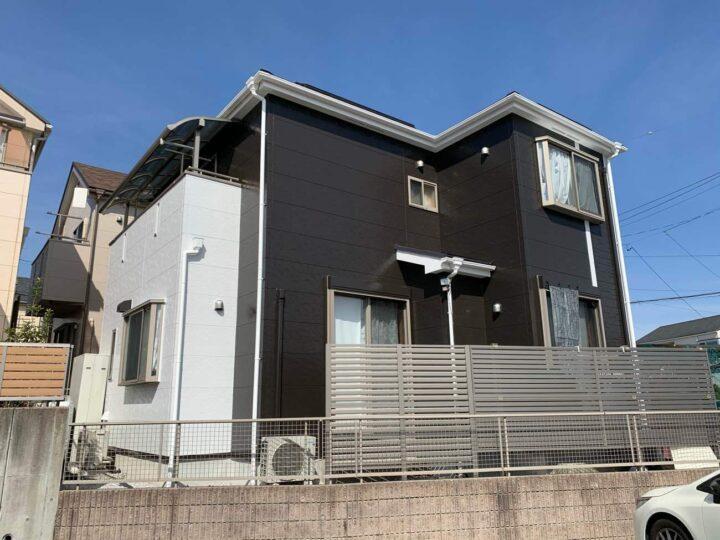 春日井市S様邸外壁塗装工事・屋根塗装工事・コーキング打ち替え、打ち増し工事