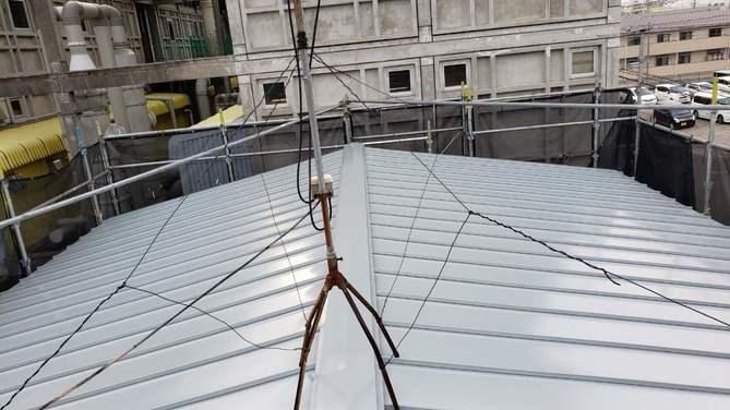 春日井市N様邸屋根重ね葺き工事・雨樋改修工事・庇板金重ね貼り工事