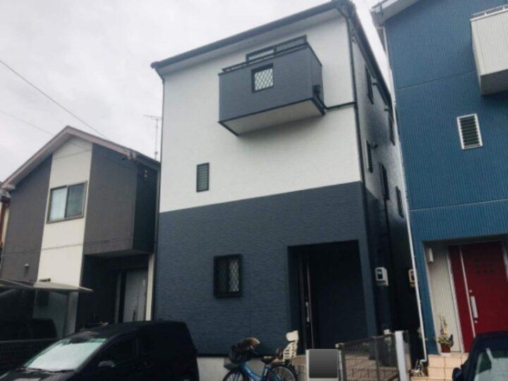名古屋市中川区M様邸外壁塗装工事・コーキング打ち替え、打ち増し工事・屋根塗装工事・ベランダトップコート工事
