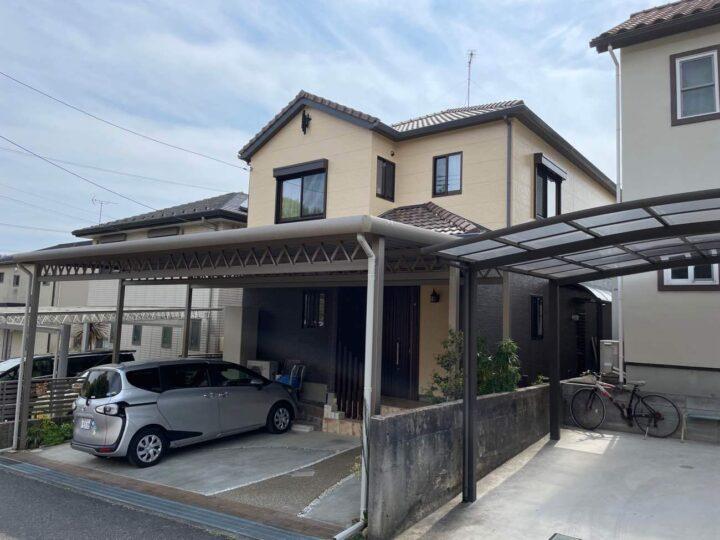 春日井市H様邸外壁塗装工事・コーキング打ち替え、打ち増し工事・屋根修繕工事・屋根塗装工事