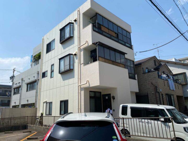名古屋市東区S様邸 外壁塗装工事・屋上断熱防水工事
