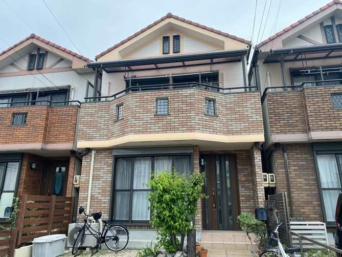 名古屋市北区I様邸外壁塗装工事・コーキング打ち替え、打ち増し工事・ベランダ防水工事