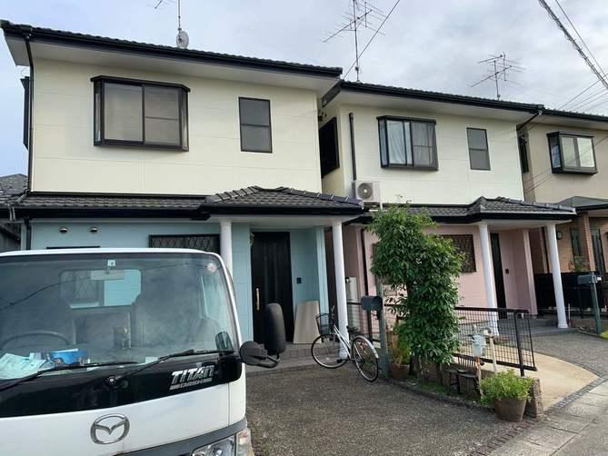 名古屋市西区K様邸外壁塗装工事・コーキング打ち増し工事・ベランダトップコート工事・玄関扉塗装工事