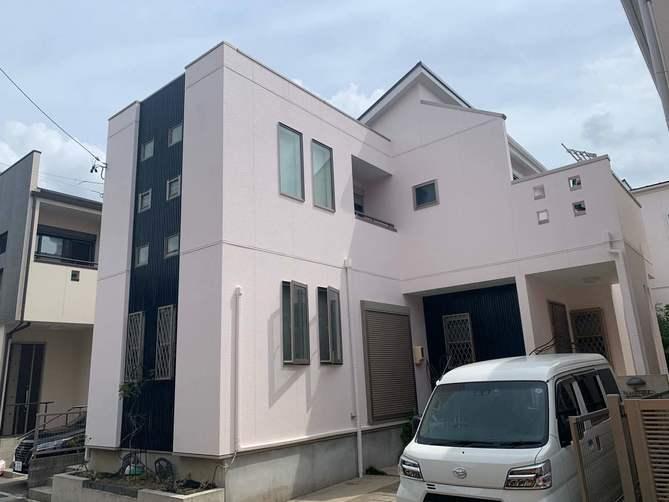 名古屋市守山区K様邸外壁塗装工事・屋根塗装工事・コーキング打ち替え、打ち増し工事、ベランダ防水工事