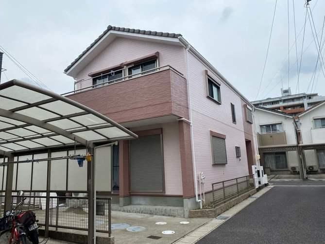 西春日井郡K様邸外壁塗装工事・コーキング打ち替え、打ち増し工事・植木伐根工事
