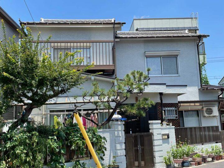 名古屋市北区H様邸外壁塗装工事・屋根修繕工事・雨樋改修工事