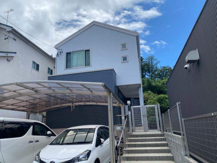 名古屋市守山区K様邸外壁塗装工事・コーキング打ち替え、打ち増し工事