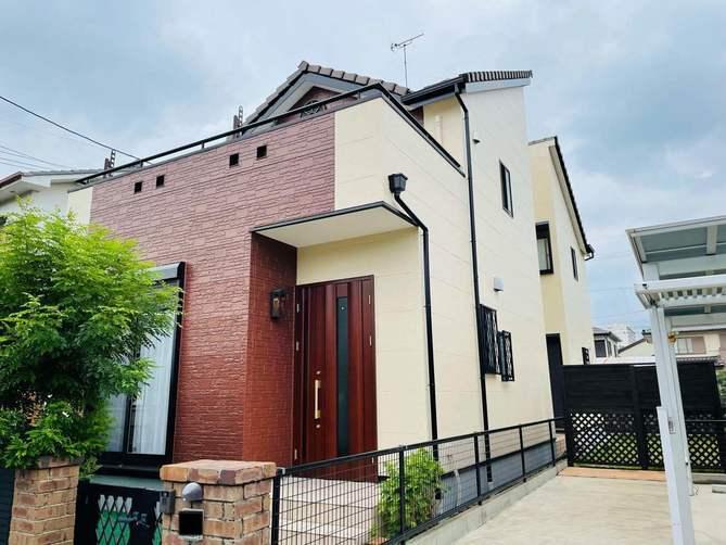 名古屋市西区M様邸外壁塗装工事・コーキング打ち替え、打ち増し工事・ベランダ防水工事