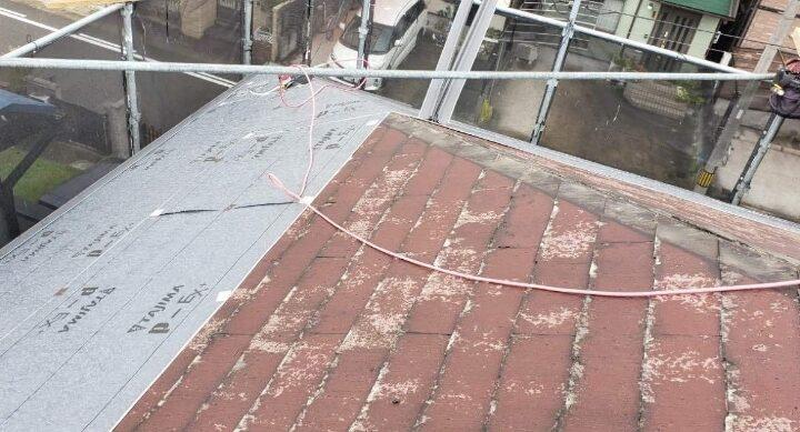 屋根防水シート設置