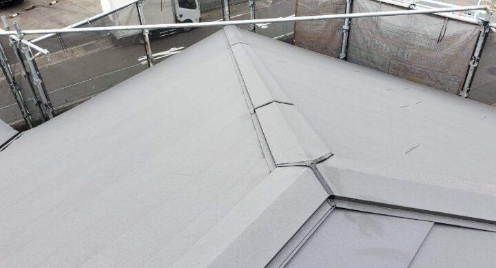 屋根重ね葺き 施工後