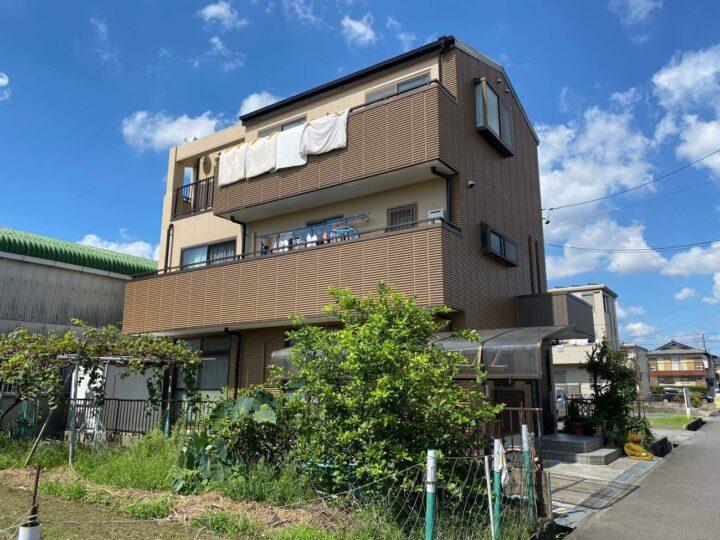 北名古屋市T様邸外壁塗装工事・コーキング打ち増し工事・屋根塗装工事・天井クロス貼り工事